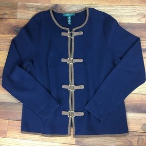 Lauren Ralph Lauren cardigan cotton navy XL